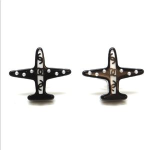 CHANEL A17 S Airplane Acrylic Pearl CC Studded